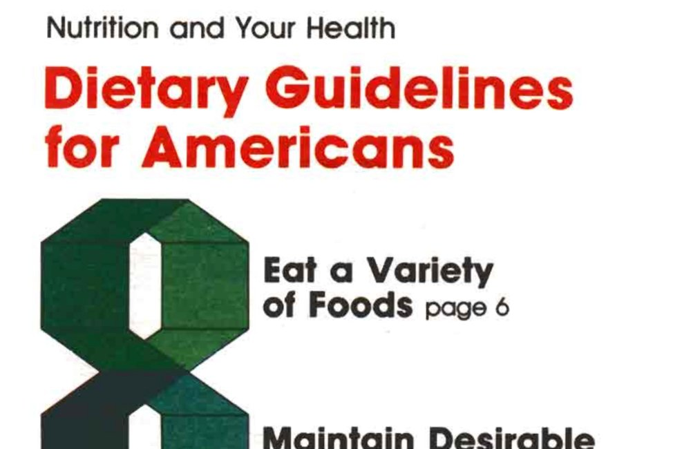 USDA 1985 Nutrition Guidelines Cover