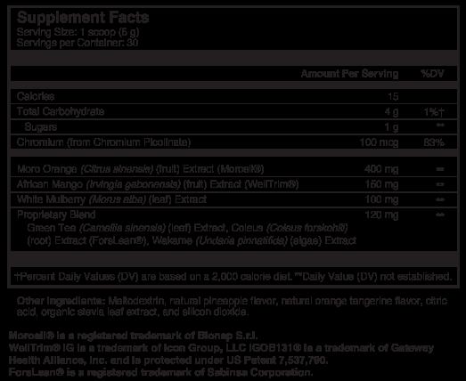 BIO X4 Supplement Facts Thumbnail