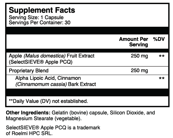 Gluco-X3 Supplement Facts Thumbnail