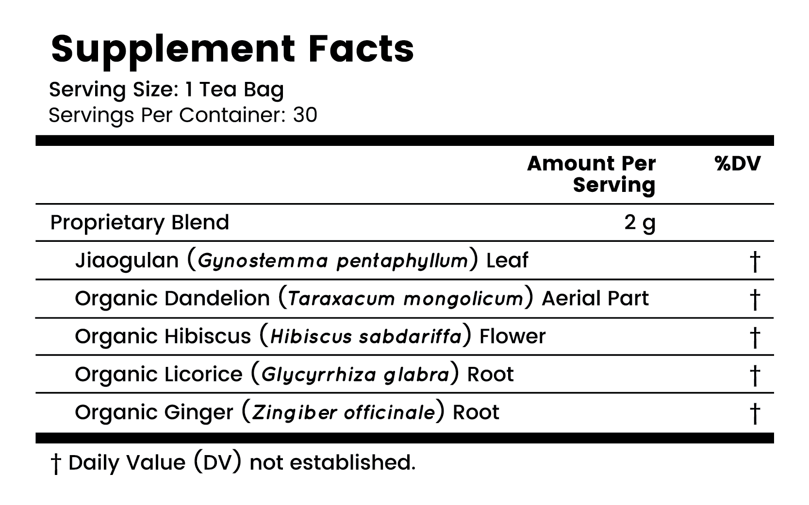 BIO X4 Supplement Facts Thumbnail