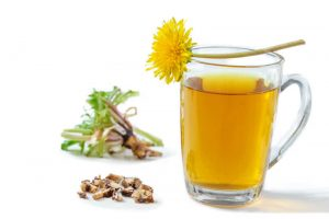 dandelion tea with leaves and roots | Nucific