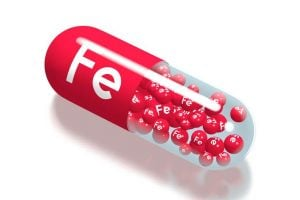 iron supplement pill concept