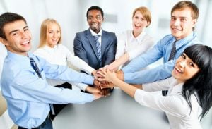 happy coworkers | Nucific