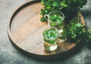 peppermint tea on a tray | Nucific